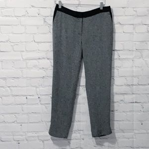 H&M Black and White Patterned Pants with Pockets